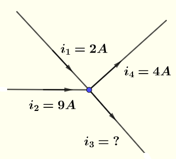 Kirchhoff's current law example 1