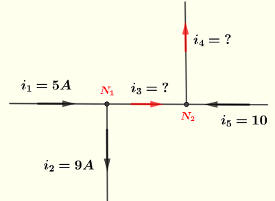 Kirchhoff's current law example 2 solution