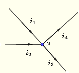 Kirchhoff's current law at a node
