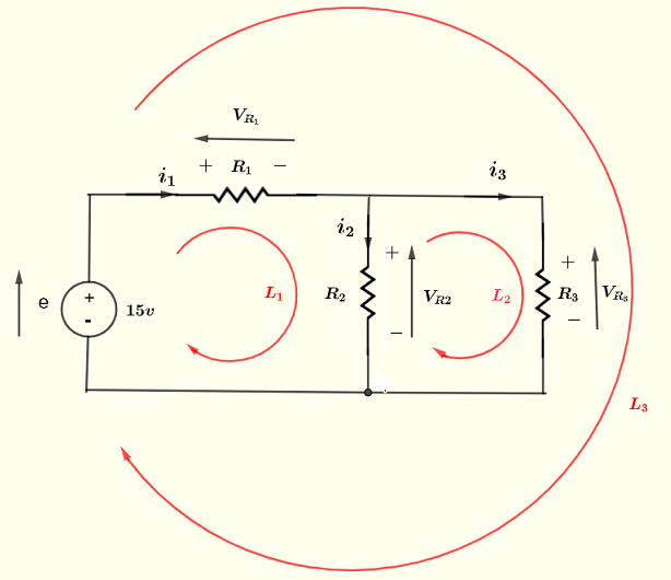 Kirchhoff's law of voltage example 3