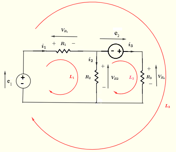Kirchhoff's current and voltage laws example 4