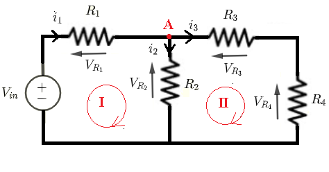 dc circuit with resistors in series and parallel